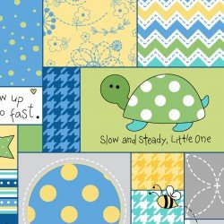 MASF8221-ZB LITTLE ONE FLANNEL TOO! ALLOVER PATCH
