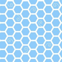 MASF8226-B LITTLE ONE FLANNEL TOO! HONEYCOMB