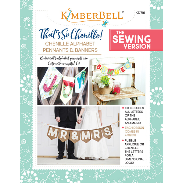 That's Sew Chenille: Alphabet Pennants & Banners Sewing Book