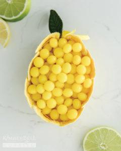 Lemon Drop Quilted Basket