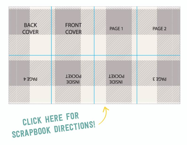 Pattern for scrapbook cover