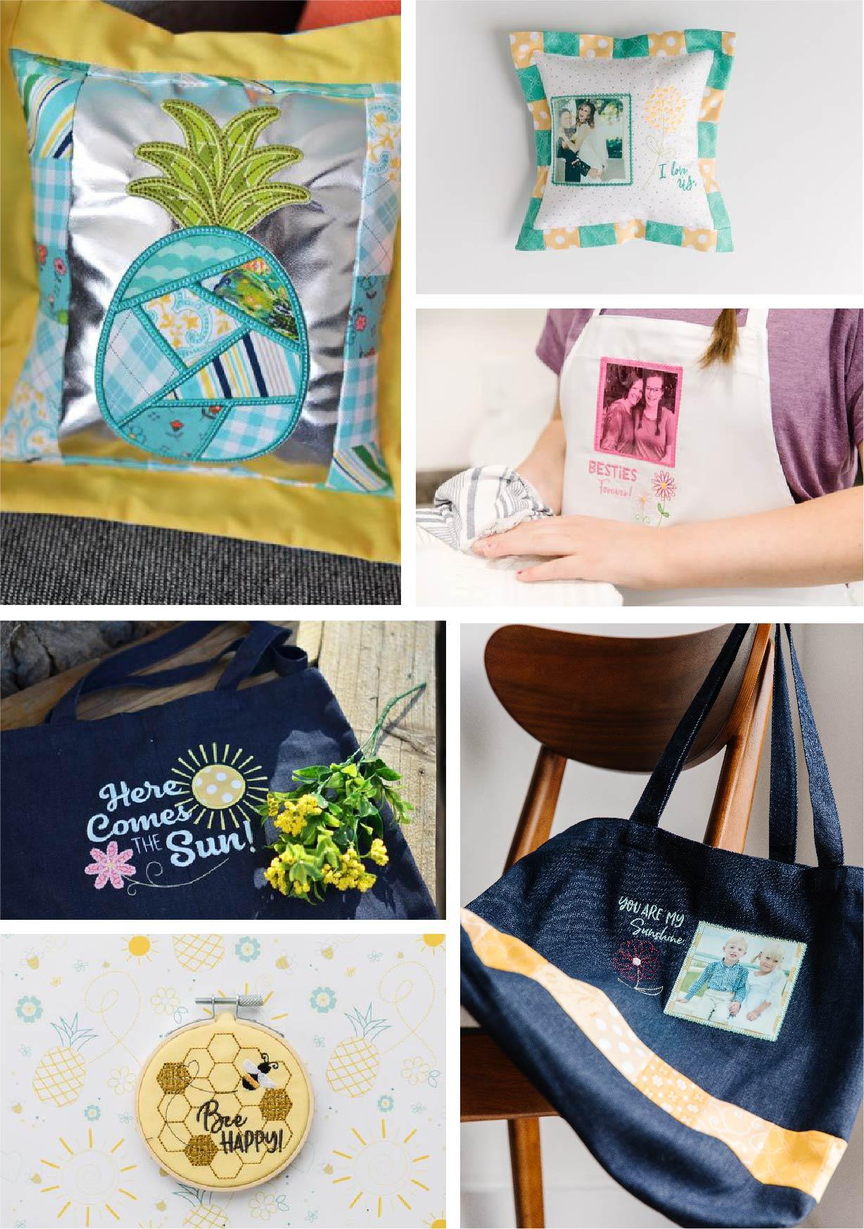 Collage of Bonus Designs from the Spring 2020 Bella Box