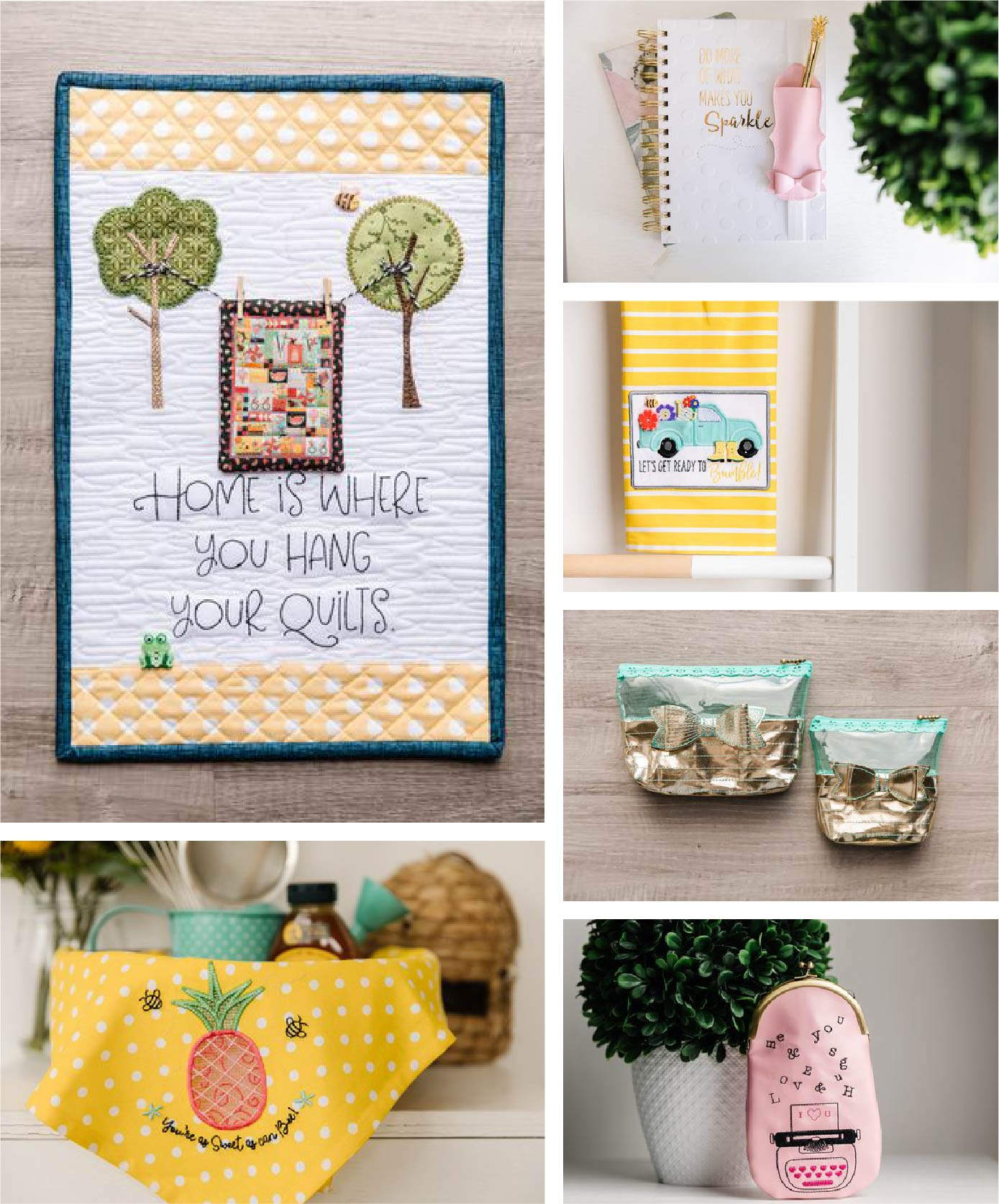 Collage of projects from the Spring 2020 Bella Box