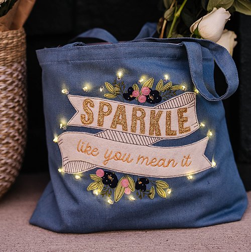 Sparkle Tote | January 2021 Fill in the Blank
